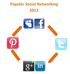 popular social networking 2013