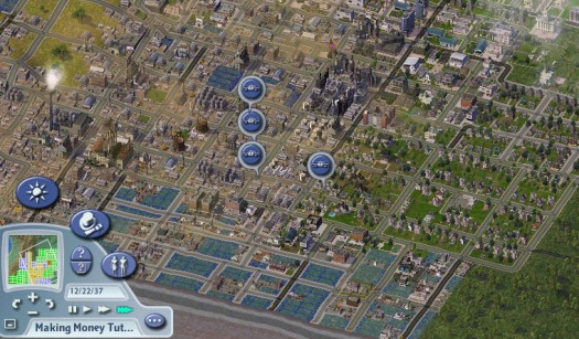 One of my cities in Sim City 4