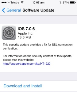 My iPhone update screen