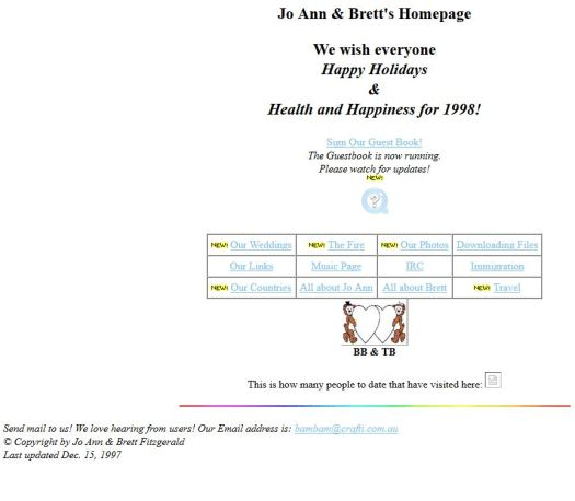 Our website 1997