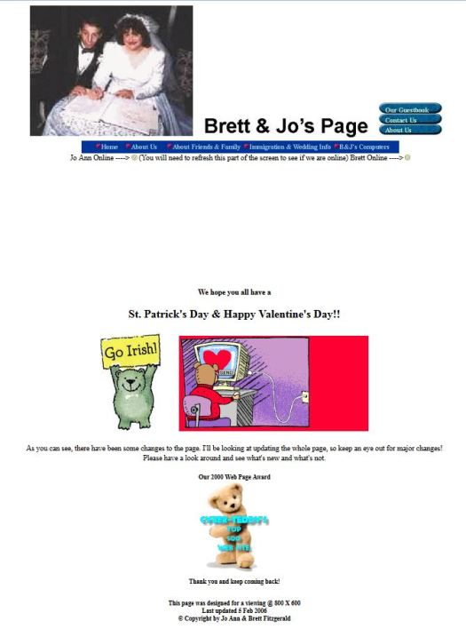 Our Website in 2005