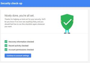 What the Google Drive's Security check looks at